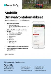 Mobiilit omavalvontalomakkeet metsäurakointiin